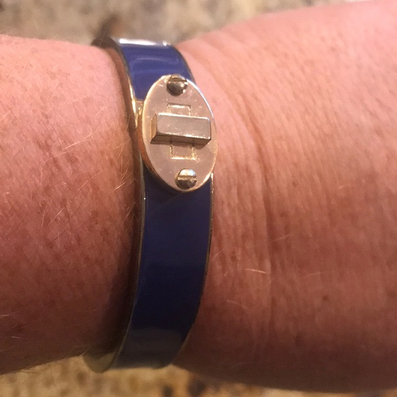 Cobalt blue snap closure bracelet